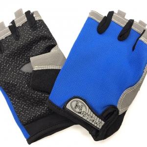 Перчатки д/фитнеса, сине-чёрные, р-р XL