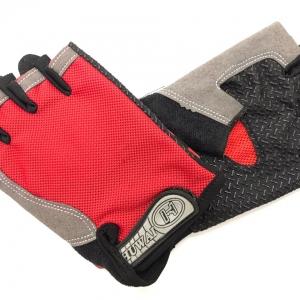 Перчатки д/фитнеса, красно-чёрные, р-р M